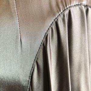 McQ by Alexander McQueen Skirts - McQ by Alexander McQueen Pewter Asymmetrical Skirt